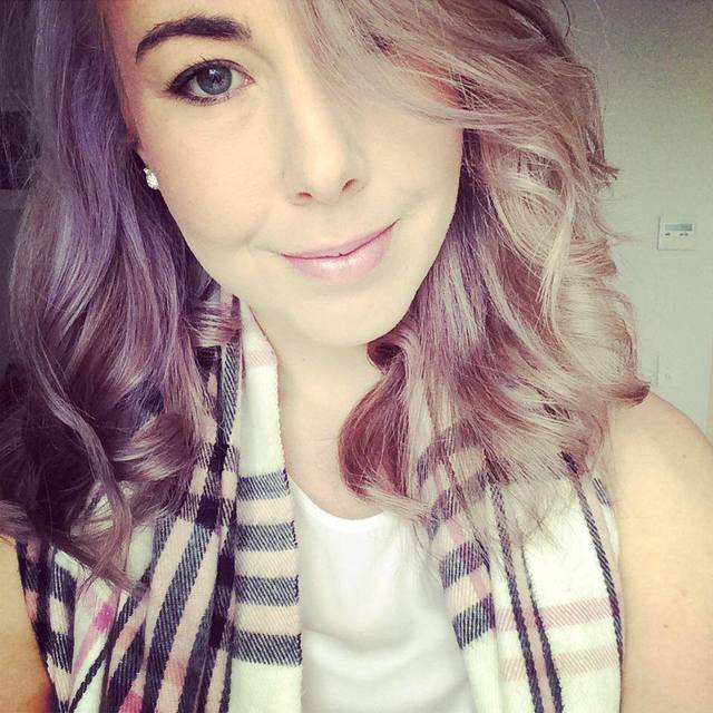 Purple Grey Hair
