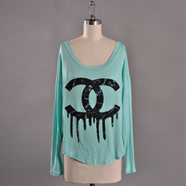 Ooh la luxe Mint Dripping Chanel Tee