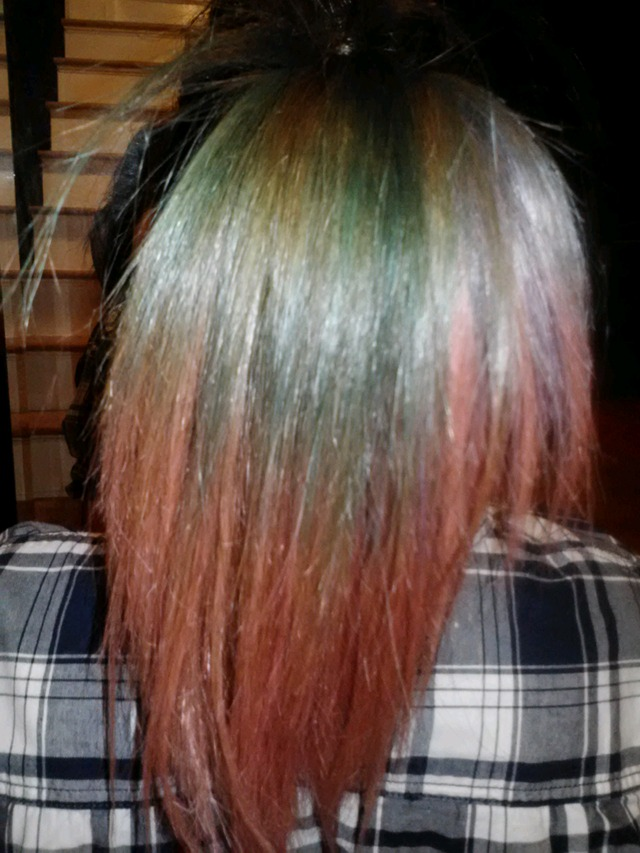 2 colored hair