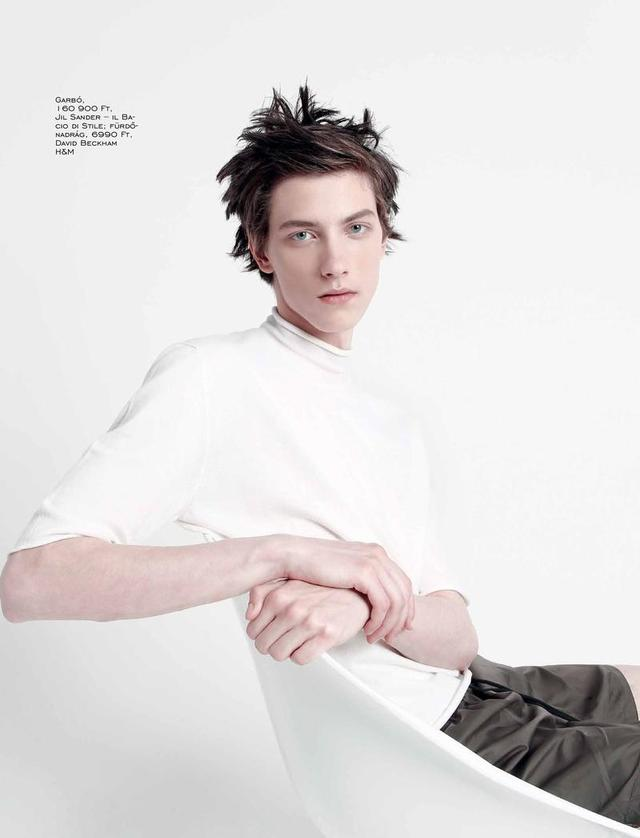 Elle Man Hungary, Kristof at Icon Model Management, photo: Balint Barna