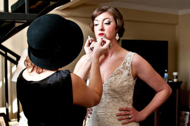 20s bridal hair and makeup