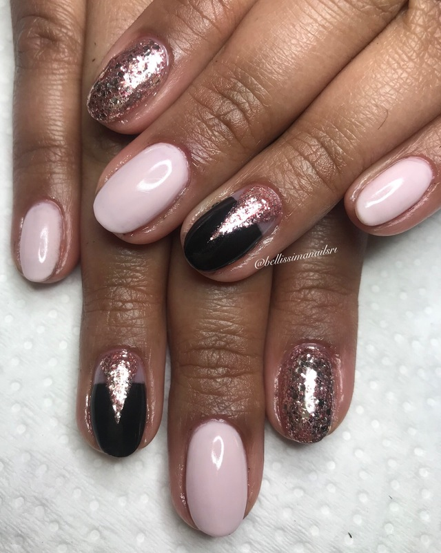 Pink rose gold mix