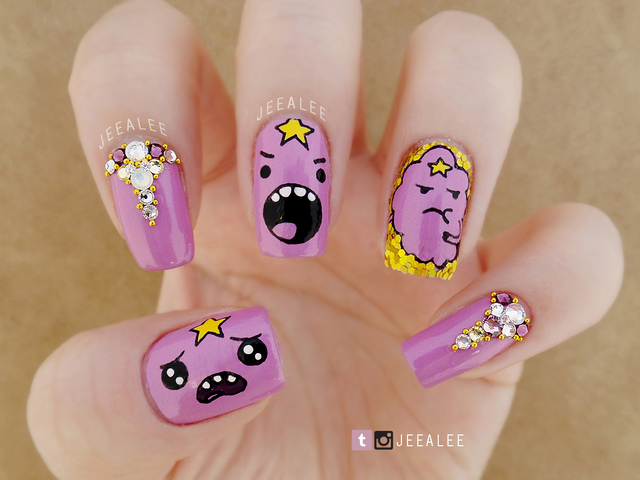Lumpy Space Princess nails