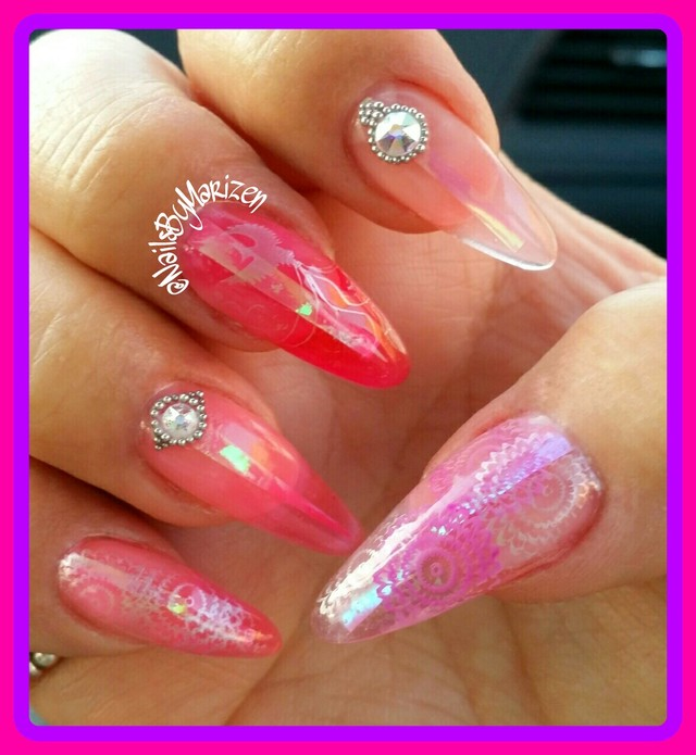Pink Jelly GEL with phoenix rising