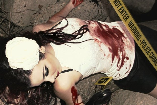 crime scene photoshoot