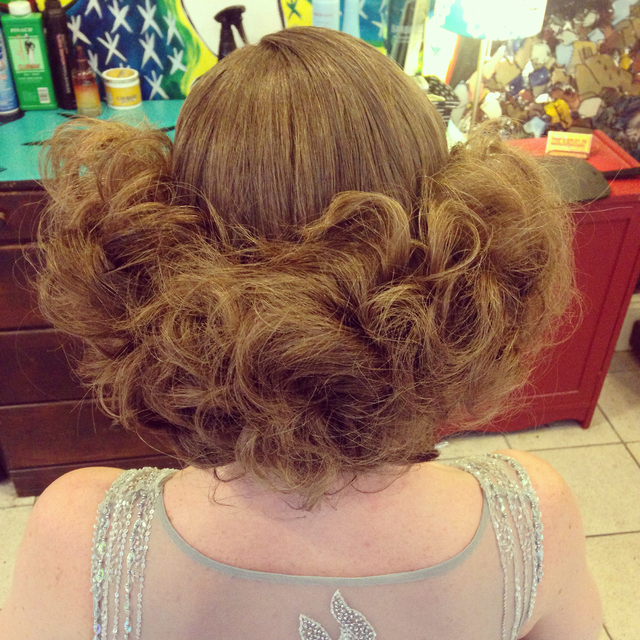1930's inspired updo. Hair and photo by Kelly Martin
