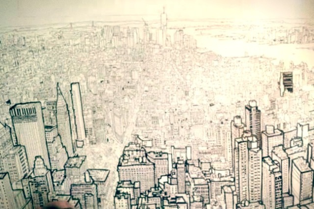 Patrick vale Freehand Drawing Lower Manhattan