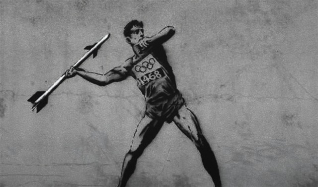Banksy Olympic Street Art London