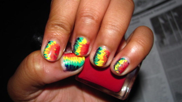 my tie dye nails :)