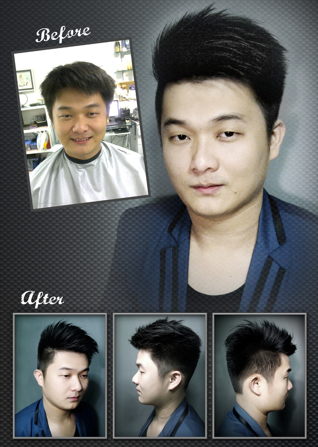 Before & After Hair Cut