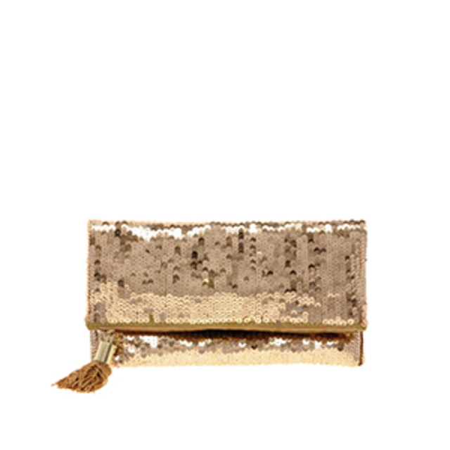 ASOS Foldover Sequin Clutch Bag