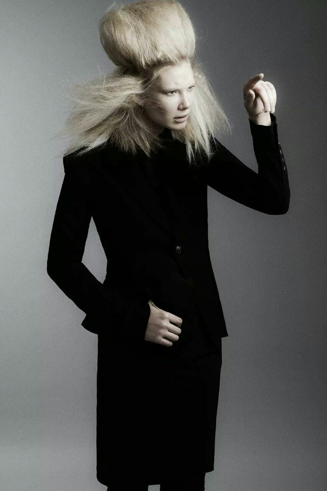 """Black Lilium"" HUF Magazine; Hair &Mu: Walter Fuentes; Photo: Sergio Garcia; Styling: Jamie Gorden; Muse: Kelly Gillespie"