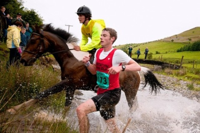 man vs horse marathon