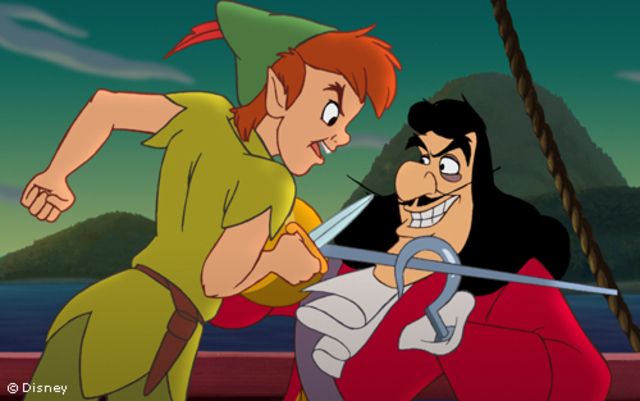 Peter Pan and Hook