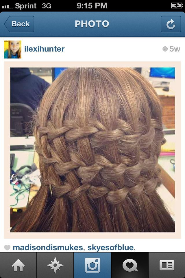 3 waterfall braids