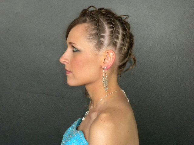 rope braid updo