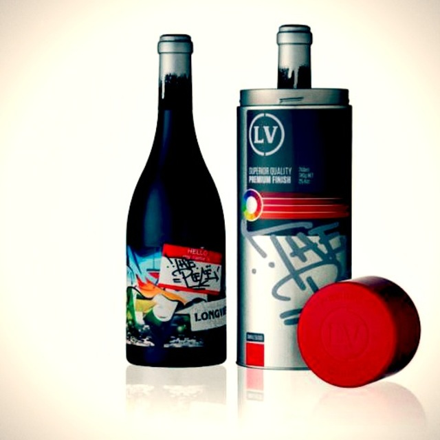 Graffiti wine bottle
