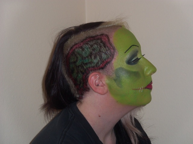 Zombie makeup for Zombie Walk in Tucson