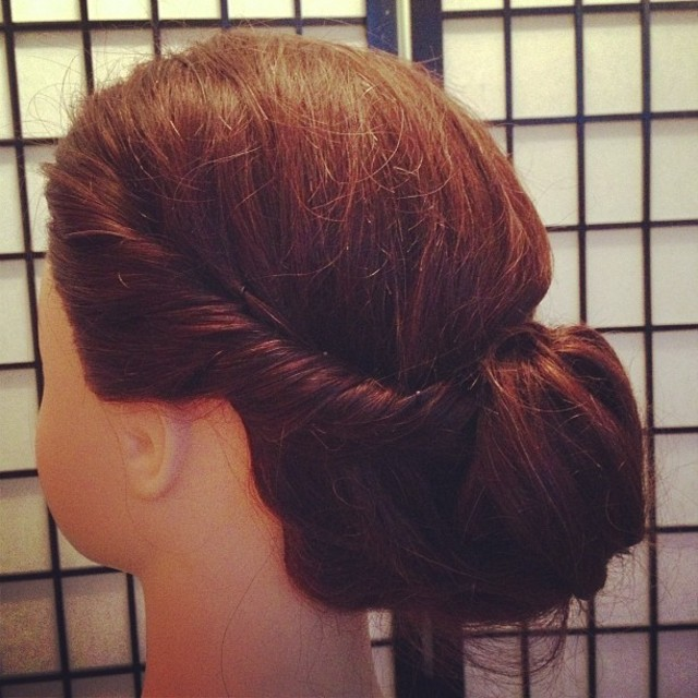 Twist Bun Up Style