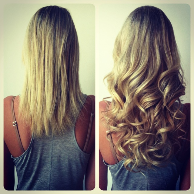 Keratin Hair Extensions(before/after) by jenniguccihair