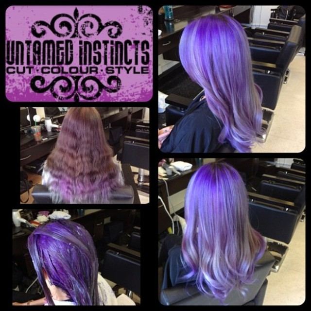 Purple & Silver Colour Melt