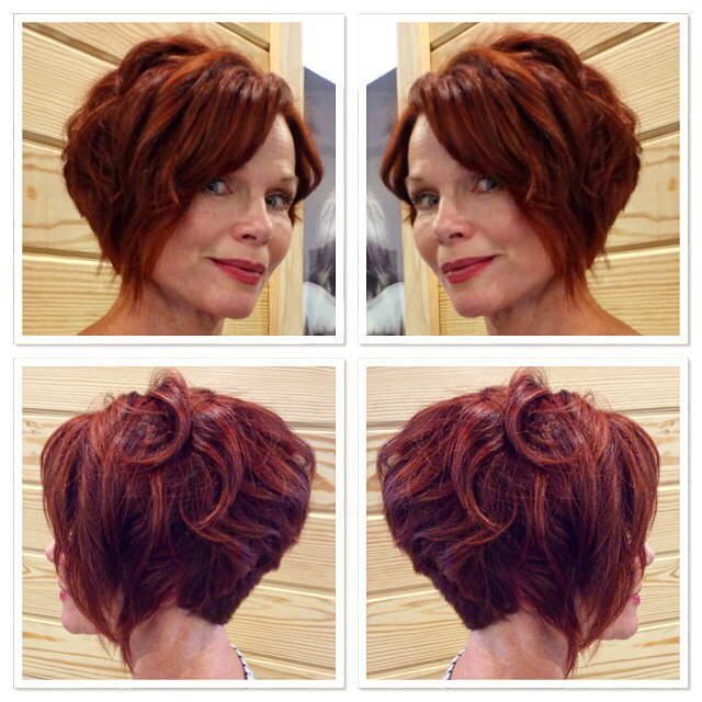 A stunning combination of #Goldwell max reds and 12 series with an overlay of #elumen 1:1 YY@all and KK@all.