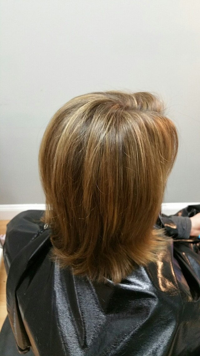 Highlighted using J Beverly Hills max lift with 20 vol, toned with 7BB and 2T