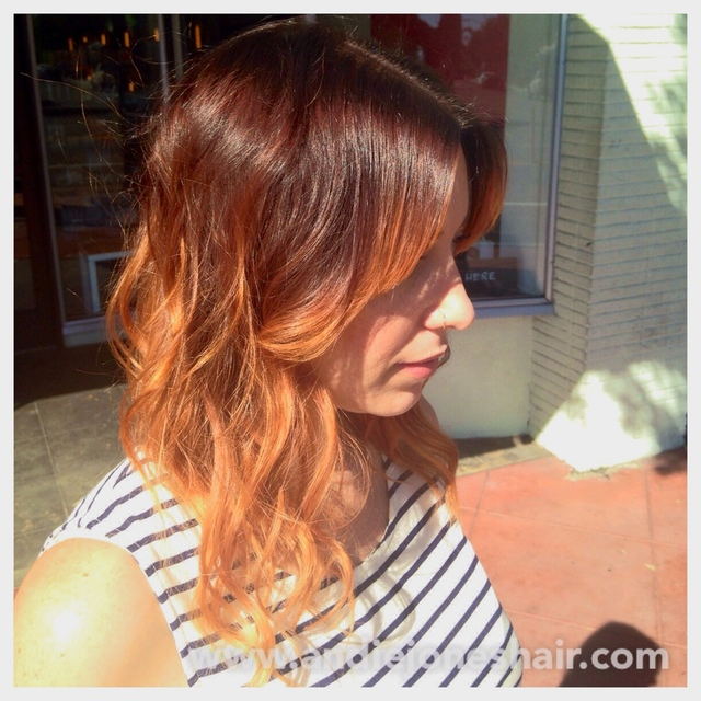 Balayage Peach Ombré. Andie Jones Hair. The Lab a Salon