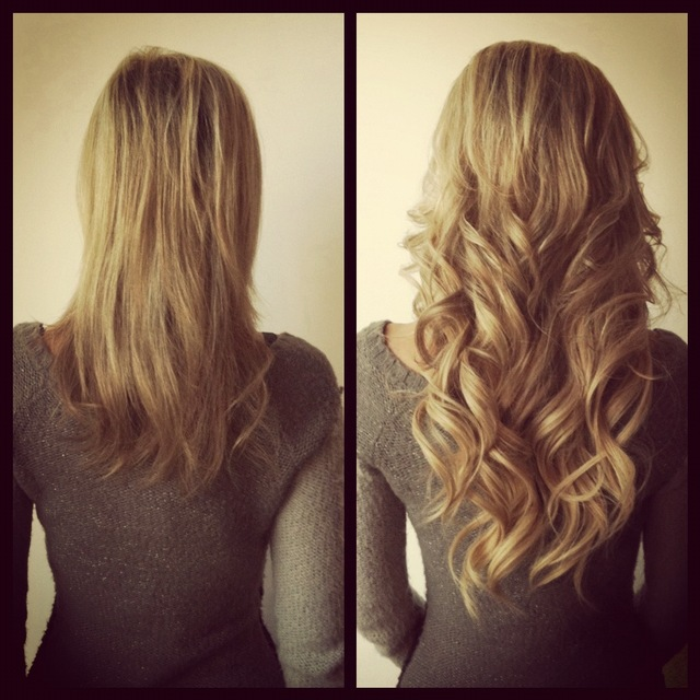 Onestep Hair Extensions(before/after) by jenniguccihair