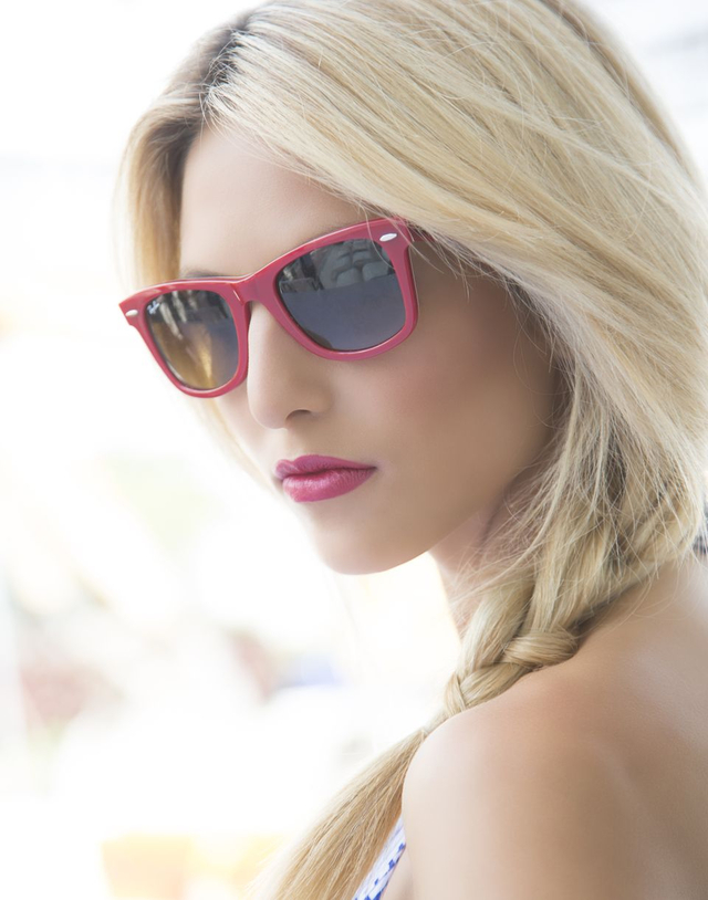 South Beach, hair Louie Leonetti, photographer Cam Camarena on set in Miami with Tearsheet