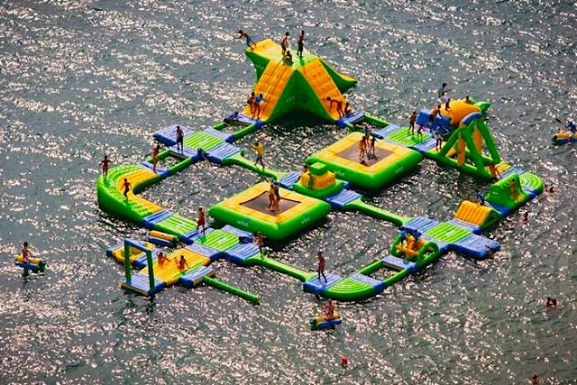 giant inflateable water park