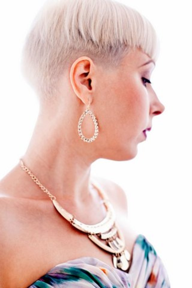 Great Versatile Short undercut Blond pixie Hairstyle for 2014
