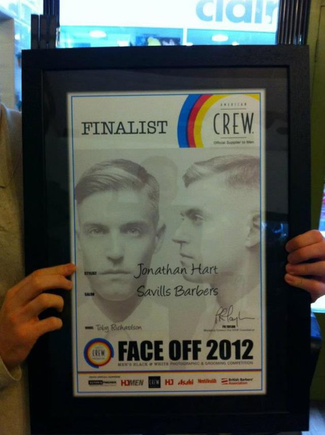 American Crew face off 2012 finalist photo by Jonathan Hart Savills Barbers
