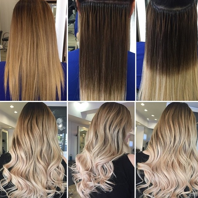 Hair extension application by Helen