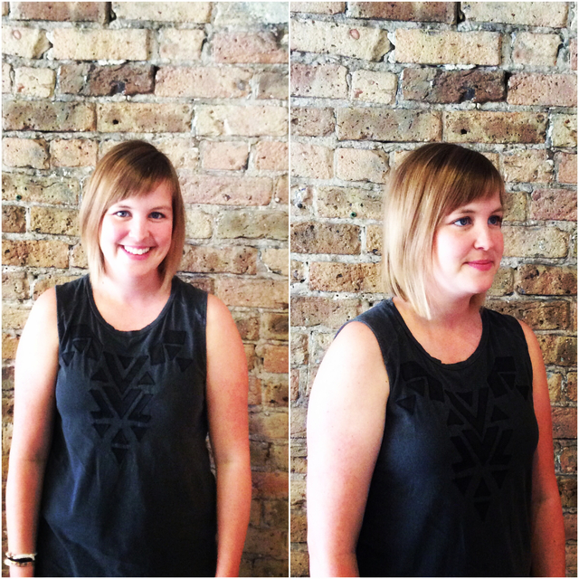 #haircut #haircolor #hair #shorthair #sombre #hairstyle #shellywilson #nomobosalon #nomobo #chicago #wickerpark #bangstyle