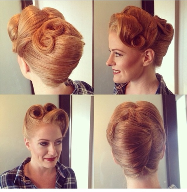 Vintage Up-do And make up by Dottie vee
