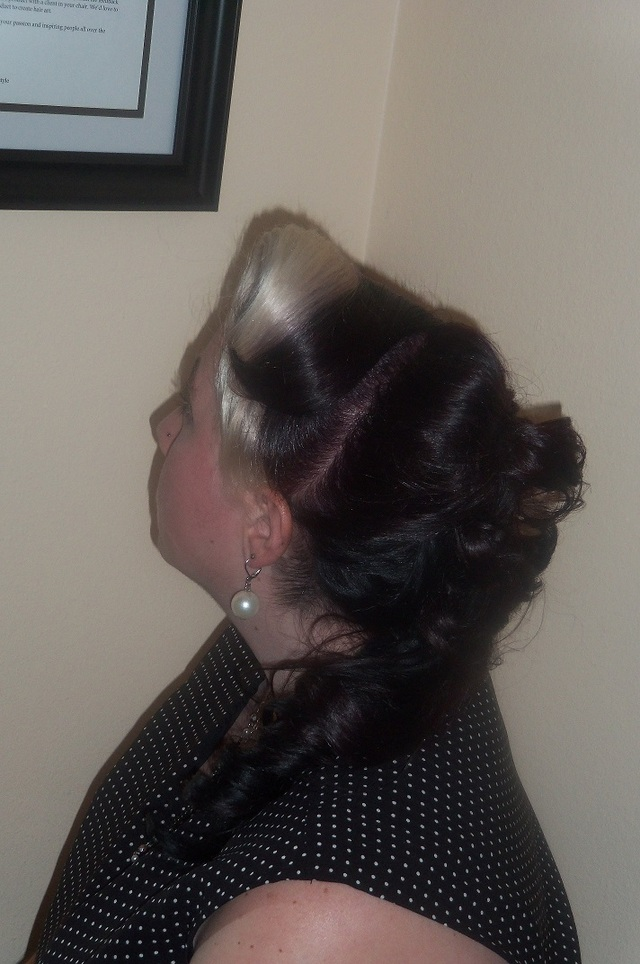40s up-do with Pony Tail