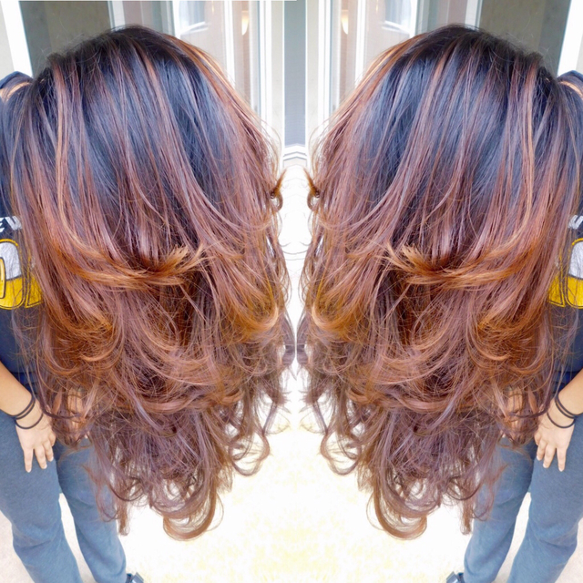 Brown balayage