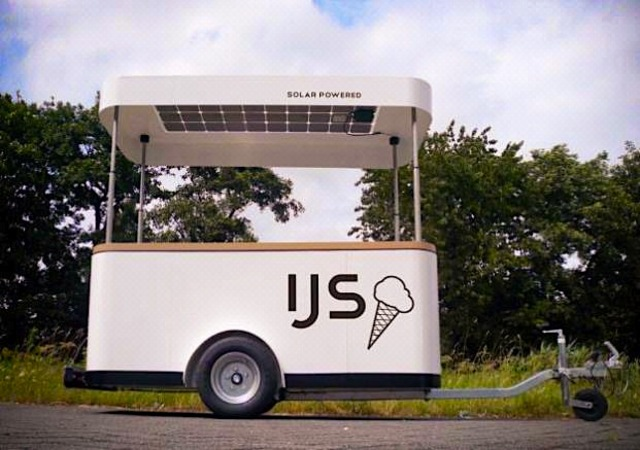 solar powered ice cream cart