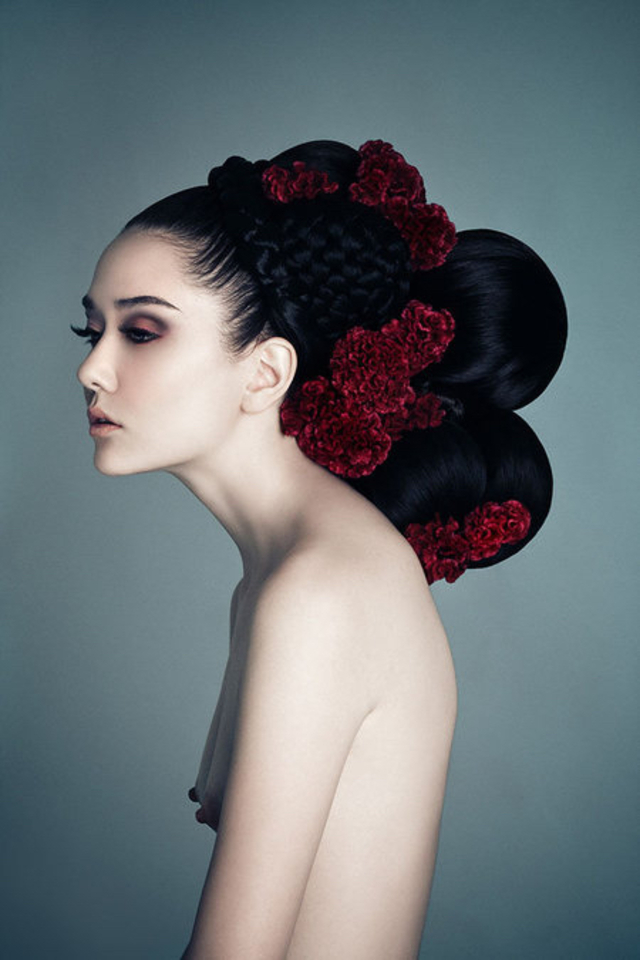 Hair & makeup Andrea Claire, photography Jingna Zhang, model Margaret White