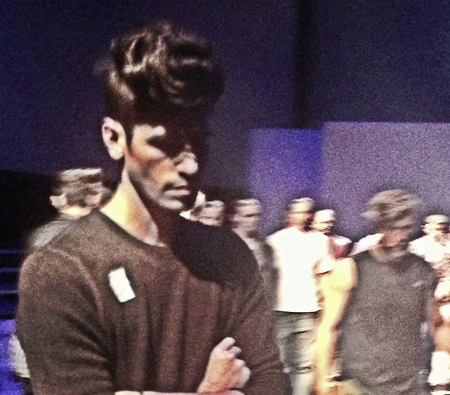 Behind the scenes. Models taking a practice run before the American Crew Opening Night Show Model: Philip Reinecker Hair: Mary Cassola