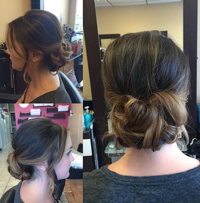 Bridal trial by using a looping technique and twists