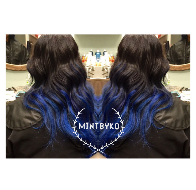 Blue hair takeover #mintbyko