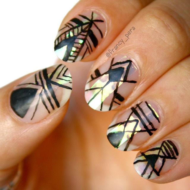 Tribal -Tutorial nail art
