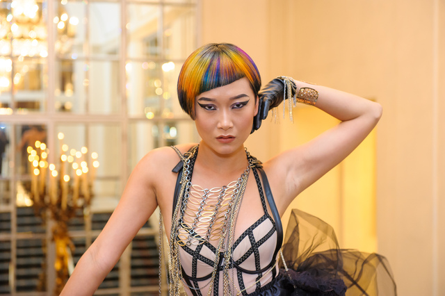 Intercoiffure ICON'S of Color Award Sue Pemberton's Model