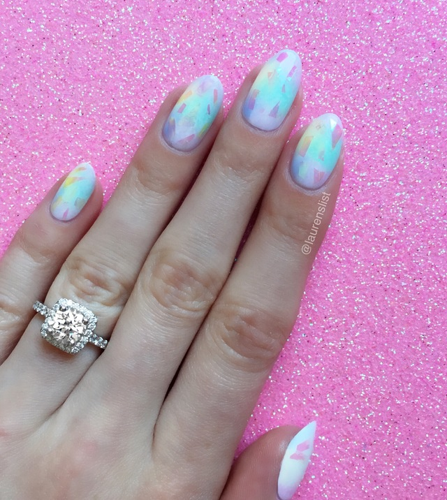 "lauren's list | holographic ""unicorn"" nails"