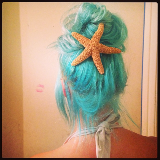 Turquoise mermaid hair