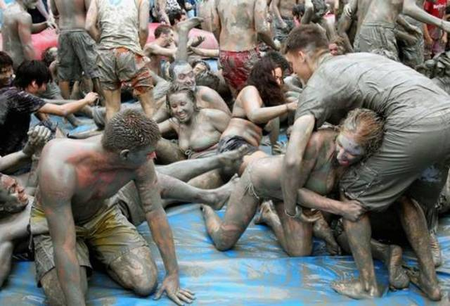 The 12th Mud Festival Takes Place