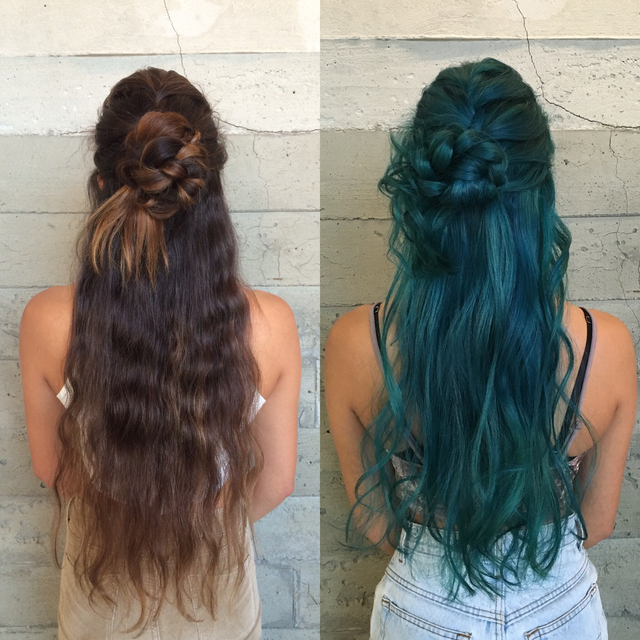 Before and after Sea Witch hair