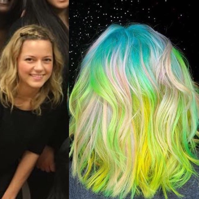 Space galaxy princess before vs after hair transformation